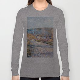 1879-Claude Monet-The Road to Vétheuil-23 x 28 Long Sleeve T-shirt