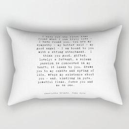 Jane Eyre Quote Rectangular Pillow