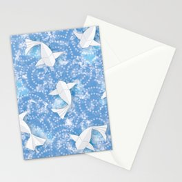 Origami Koi Fishes (Sky Pond Version) Stationery Cards