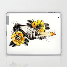 Hand holding CANDLE - tattoo Laptop & iPad Skin