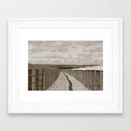 Floating Bridge Framed Art Print