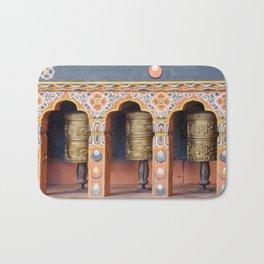 Prayer Wheels - Bhutan Bath Mat