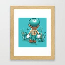 It's a Plumber's Hard Life! Framed Art Print