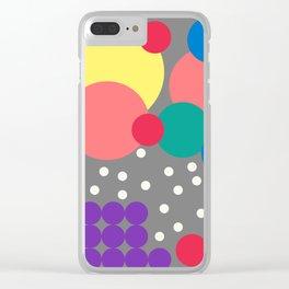 Fibo's Beach Balls Clear iPhone Case