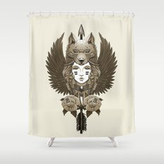 Native girl (light version) Shower Curtain