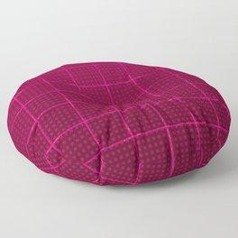 Glama Checks (Maroon) Floor Pillow