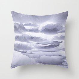 reve de plumes - dream feathers - nuage soft cloud Throw Pillow