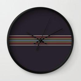 Multicolor Fine Lines Wall Clock