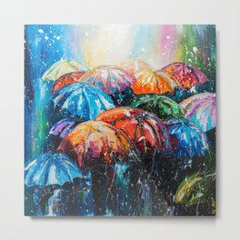 It's raining outside Metal Print