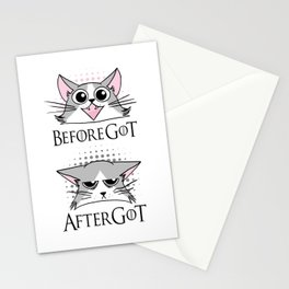 Before and after GoT Stationery Cards