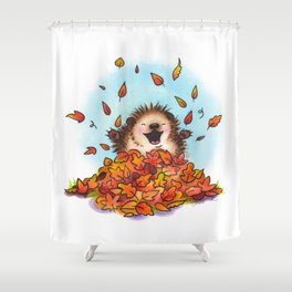 Fall Hedgie 2 Shower Curtain