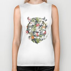 Tropical tiger Biker Tank