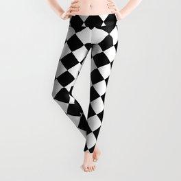 schwarz weiß kariert 2 Leggings