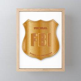 FBI Spoof Shield Badge Framed Mini Art Print