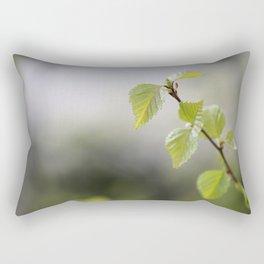 Green Birch Leaves 2 Rectangular Pillow