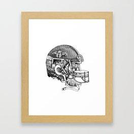Football Helmet Framed Art Print