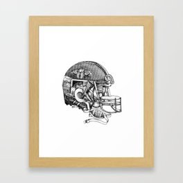 Football Helmet Framed Art Print