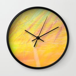 Abstract sunset - yellow, orange and blue - Wall Clock