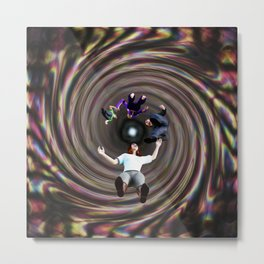 Through the Wormhole Toward the Light Metal Print