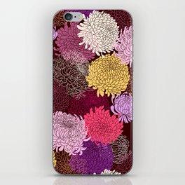 Autumn garden of chrysanthemums iPhone Skin