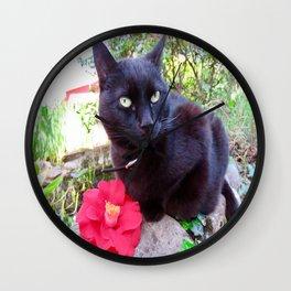 Luna, the black queen Wall Clock