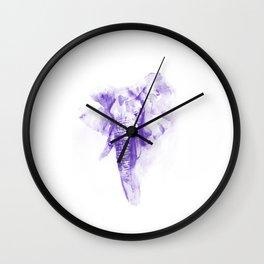 Purple elephant Wall Clock