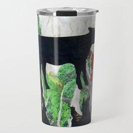 Walking free - Vegan Series - Original Painting by MARINA TALIERA Travel Mug