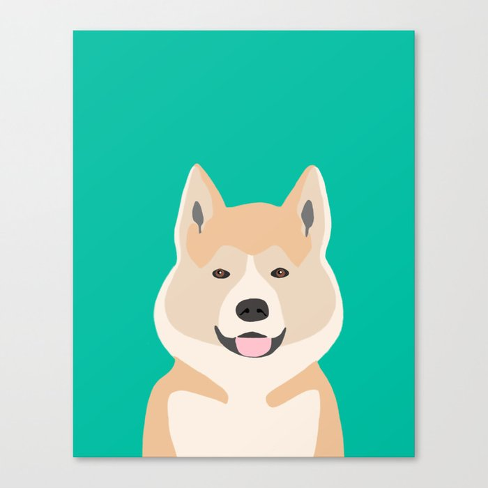 Akita dog person funny puppy illustration modern dog breed art print akita owners must have gifts Canvas Print by petfriendly | Society6