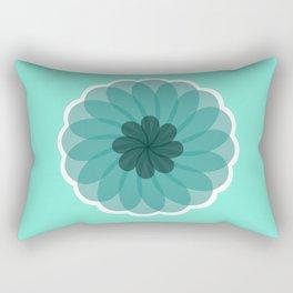 turquoise blue geometrical flower Rectangular Pillow