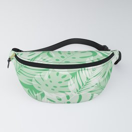 Tropical Shadows - Vibrant Green / White Fanny Pack