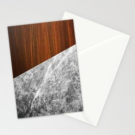 Wooden Marble Stationery Cards