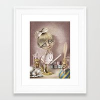teacher Framed Art Prints featuring The teacher by daltrOnde