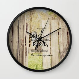 Emily Dickinson Quote Soul Ajar Wall Clock