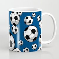 soccer Mugs featuring Soccer by joanfriends