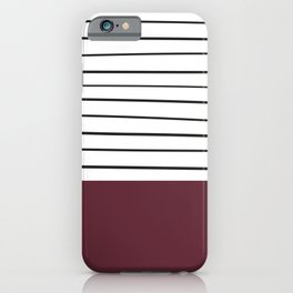 MARINERAS MAROON iPhone Case