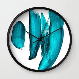 """When the world gives you psychopaths, make art"". Phthalo Green Series, No. 16 Wall Clock"