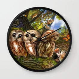 Out On a Limb Wall Clock