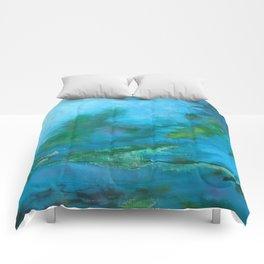 Light Blue Monet´s Theme of Waterlilies Comforters