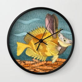 Foxface rabbit fish Wall Clock