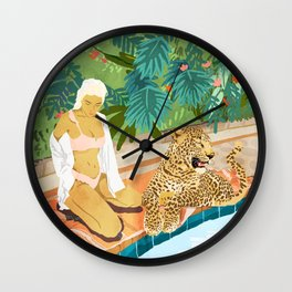 The Wild Side #illustration #painting Wall Clock