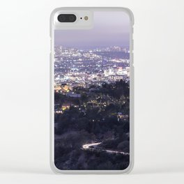 Los Angeles Nightscape No. 2 Clear iPhone Case