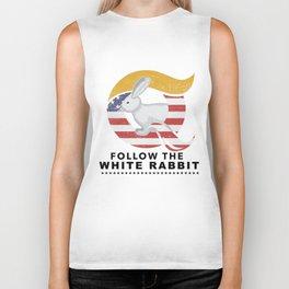 QAnon Art Follow the White Rabbit WWG1WGA Light Biker Tank