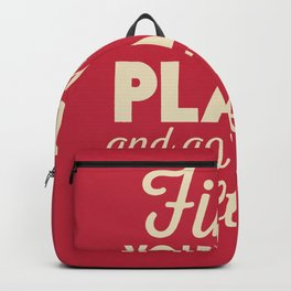 Find your happy place, wanderlust quote, traveling, explore, go on an adventure, world is yours Backpack