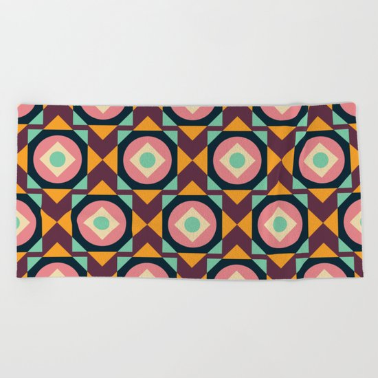 Geometric#31 Beach Towel