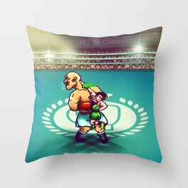 Punch-Out!! Throw Pillow