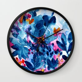 Flower garden watercolor Wall Clock