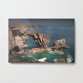 The Green Bridge of Wales Metal Print