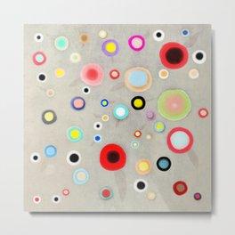 Abstract Happy Circles Metal Print