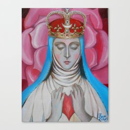 Madonna of tears Canvas Print