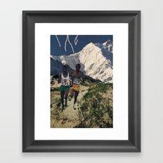 Running Like Lightning Framed Art Print